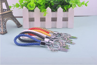 Wholesale Keychain of High grade cow leather cord Creative exquisite Leather Car Keychain