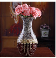 Wholesale Europe type restoring ancient ways of manual Mosaic glass vase