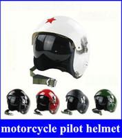abs racing - Red Star Tactical Pilot Motorcycle Motorcross Racing Crash Helmet Dual Visor New hight quality