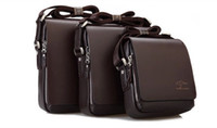 Wholesale Men Genuine Leather Handbag Black Brown Briefcase Laptop Shoulder Bag Messenger Bag for men size