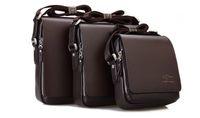 Wholesale Men s Genuine Leather Handbag Black Brown Briefcase Laptop Shoulder Bag Messenger Bag size