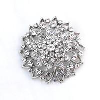 1.7 - 1 Inch Vintage Style Rhinestone Crystal Diamante Bridesmaid Wedding Brooch
