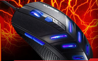 Cheap Best 1pc 2014 New Arrive Mice Black Multifunction 125g USB Cable Aggravated Flames Professional Gaming Mouse 0Q114C Free Shipping