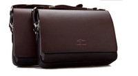 Wholesale Horizontal Big Size Men s Genuine Leather Handbag Black Brown Briefcase Laptop Shoulder Bag Messenger Bag size