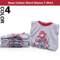 Wholesale New Boys Designer Kids Brand T Shirt Summer Cartoon Cotton Gray White Color For Years Childrens Clothes