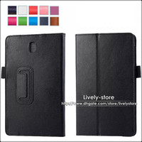 Wholesale 50PCS PU Leather Folio Stand Case For Samsung Galaxy Tab S Super T700 T701 T705 Inch Tablet PC Colors in Stock