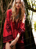 Wool bell french - Free People French Line Embroidered Ethnic Style Dress