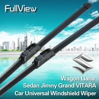 Cheap Wholesale-407-Free Shipping Soft Frameless car windshield wiper blade for Suzuki Wagon Liana Sedan Jimny Grand VITARA Natural Rubber Car Wip