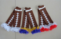 Wholesale Football Ruffle Photo Props Chiffon Ruffle Football Leggings