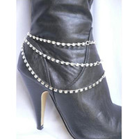 boot jewelry - Foreign trade in Europe and America selling trinkets claw chain rhinestone boots chain heel shoe anklet foot chain body jewelry