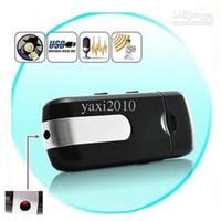 Cheap Wholesale - Free Shipping U8 HD 720*480 Mini DVR USB Disk Hidden Spy Camera Motion Detector Video Recorder High Quality