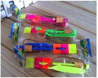 Wholesale LED Amazing flying arrows helicopter umbrella light parachute kids toys ems DHL