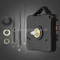 Cheap NEW Black Portable Metal Plastic Modern Simple DIY Quartz Wall Clock Movement Mechanism Repair Parts Tools Set Kit With Hands