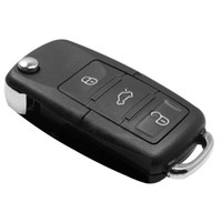 Car Remote Keys   Car Key Shell For VW Volkswagen Replacement Golf Passat Polo Bora 3 Buttons Button Flip Replace Remote Key Case