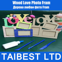 Cheap LOVE Wood Photo Frame White Base Frame DIY Picture Frame 1PCS