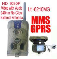 Ltl Acorn 6210MM 6210MG 12MP HD 1080P MMS móvil GPRS Correo electrónico Scouting Cámara de la caza Camino de exploración del juego Cámara con la extensión de la antena