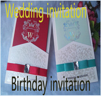 Wholesale Invitation European contracted blue wedding invitations Chinese invitation Invitations wedding creative business birthday invitations a2