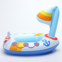 Cheap Lovely Cute PVC Inflatable Air-Filled Swimming Pool Shower Boat Toys For Baby Children Kids Birthday Gift