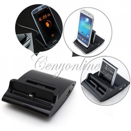 3in1 OTG USB Dual Dock Battery Charger Cradle Station Data Sync Cable for Samsung Galaxy S4 i9500 S3 for Note 2 Free Shipping
