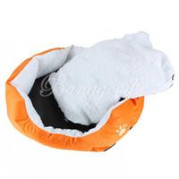 Wholesale New Color Orange Pet Dog Puppy Cat Soft Fleece Warm Bed House Plush Cozy Nest Mat Pad Size L S