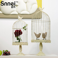 Wholesale Birdbrains snnei indoor accoutering small provence wrought iron fence retro flower antique finishing