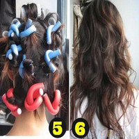 Wholesale 10Pcs set Curler Makers Soft Foam Bendy Twist Curls DIY Styling Hair Rollers Tool for Women Accessories