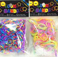 Wholesale glow in the dark Rainbow Loom Bands Tie dye gllitter pc Bands S Clips mixed colors Refill by fedex