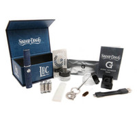 Cheap Hot snoop Dog Micro G kit Wax vaporizer with glass filter free DHL shipping
