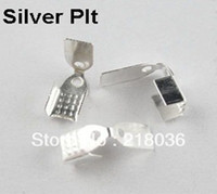 Cheap HOT 700Pcs End Cap For Leather Cord 4x10mm,5x11mm,7x11mm Silver Plt A1801 DIY Metal Jewelry