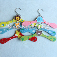 Wholesale 12 x Cartoon Baby Children Kids Nursery Room Wooden Coat Clothes Hooks Hangers With Free Mini Color Clothespin units size quot