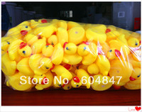 Cheap Wholesale - Hot! 20pcs lot Baby Bath Toy Mini 4cm Rubber Ducks toys