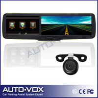 "Cheap car dvr wholesale 2013 New 4.3"" inch TFT LCD Car rear view rearview mirror monitor+GPS+HD 720P DVR+bluetooth+backup camera freeshipping"