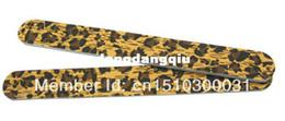 Wholesale-407-50 pcs Leopard Print Desgin Nail Files fashionable nail art tool