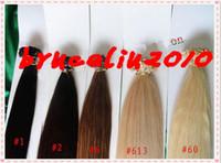 "Brazilian Hair Black Straight Summer Stick Hair Extension #1B#2#4#8#60#613 18""-28"" 100% Brazilian human virgin hair I-tip straight remy hair Pre-bonded 3pcs lot Grade 6A"