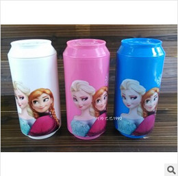 Wholesale 3 colors FROZEN Elsa and Frozen Anna Good Girl Gifts children cartoon straw cup toys for children frozenC18