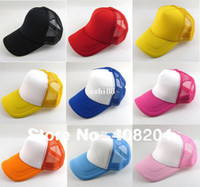 Wholesale colors Mesh Plain Blank Trucker baseball hat cap