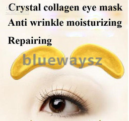 Wholesale 2014 Hot New Crystal Collagen Gold Powder Eye Mask Crystal Eye Mask pair ePacket