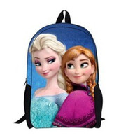 Wholesale Manufacturers selling ice colors Queen s big adventure Cartoon is primary school a boy girl bag