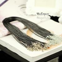 Wholesale DIY homemade black leather cord pendant diameter MM MM rope chain necklace collarbone chain spare strings