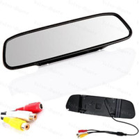 Wholesale 4 Inch car monitor Color Digital TFT LCD Screen Car Rear View Rearview Mirror Monitor TSQ15