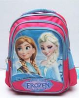 Wholesale Ice and snow country large three layers bag Snow and ice queen students bag