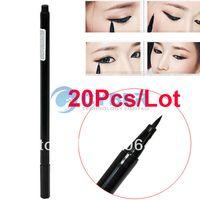 Cheap 20Pcs Lot Waterproof Beauty Makeup Cosmetic Liquid Eye Liner Eyeliner Pen Pencil Black Free Shipping 6546