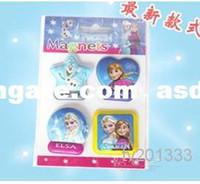 Wholesale asdyWholesale Ice and snow princess Create snow and ice frozen cartoon refrigerator post elsa Anna magnet