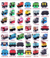 Wholesale asdyWholesale THOMAS small locomotive toy suit THOMAS wooden magnetic rail train children s educational toys