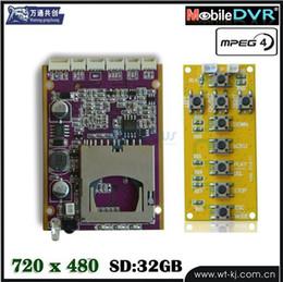 720P HD Mini DVR Card, DVR board, cctv DVR module ,D1 30fps support 32G SD CARD DVR MODULE Support GPS