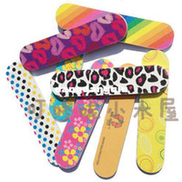 Wholesale New Hottest Printing Designs Double Sided Sandpaper Nail File Mini EMERY BOARDS Manicure Tool