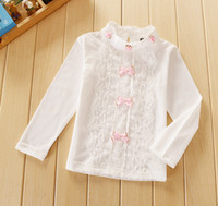 Wholesale Sample Order One Piece Spring Children Girl Long Sleeve Lace Shirt Bottoming L28832