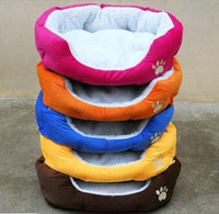 Wholesale HOT Colorful Pet Cat and Dog bed Pink Orange Blue Yellow Brown Gray Green SIZE M L