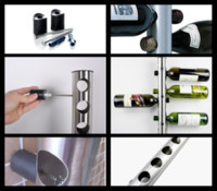wine rack stainless steel - 10Pcs Stainless Steel Wine Rack Bar Wall Mounted Kitchen Holder Bottles T349