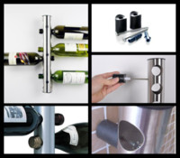 wine rack stainless steel - 30Pcs Stainless Steel Bar Wine Rack Wine Shelf Wall Mounted Holder Bottles T349